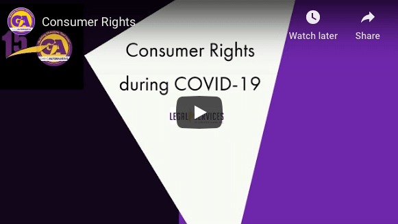 GA's webinar on Consumer Rights during COVID-19, facilitated by Legal Services of Greater Miami.